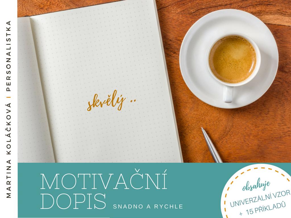 e-book motivacni dopis snadno arychle